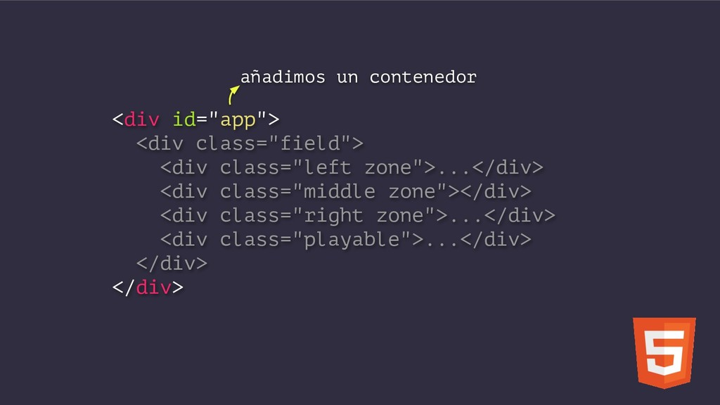 "<div id=""app""> <div class=""field""> <div class=""..."