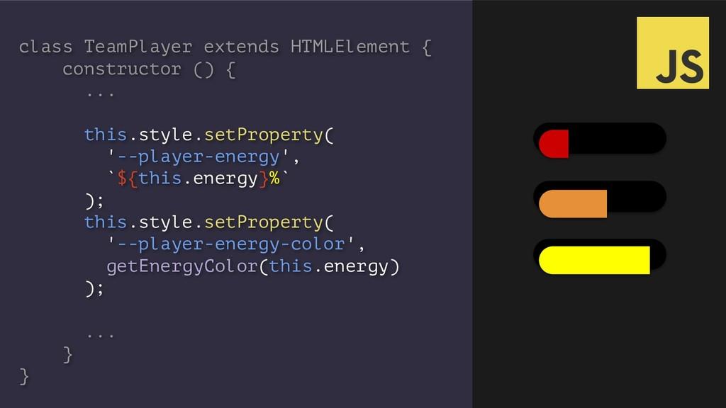 class TeamPlayer extends HTMLElement { construc...