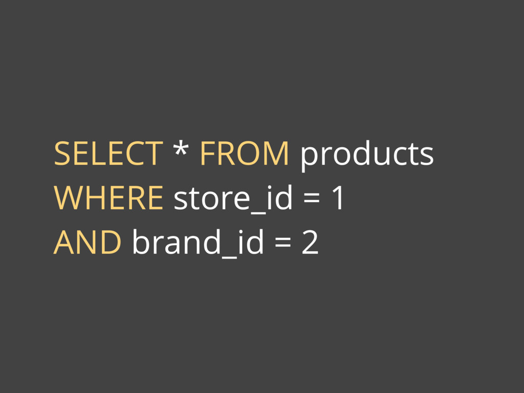SELECT * FROM products WHERE store_id = 1 AND b...