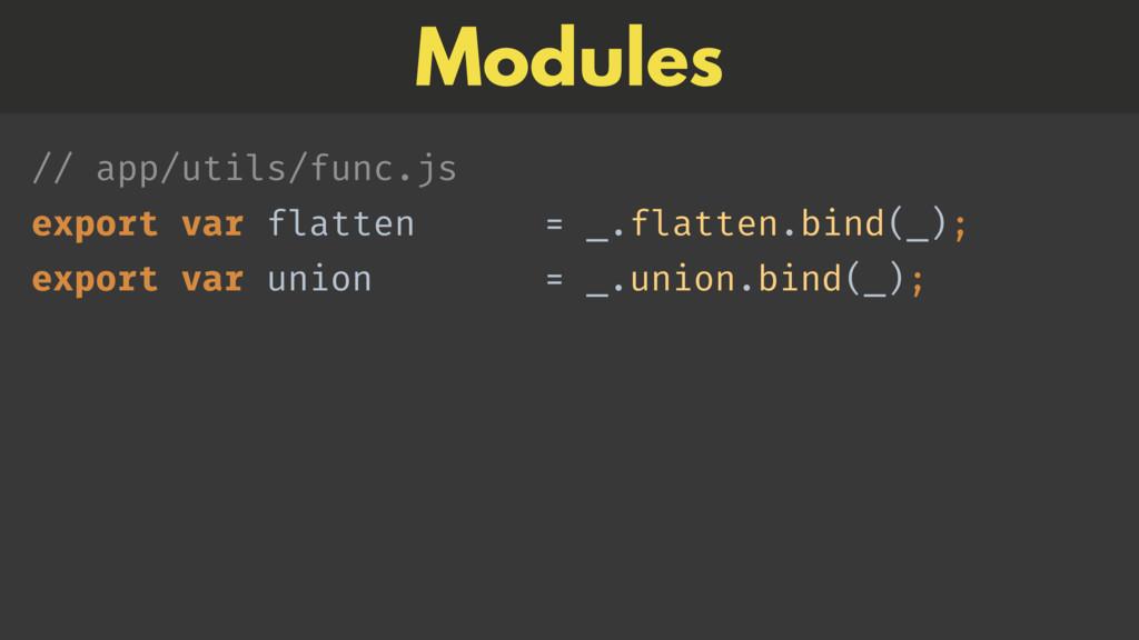 // app/utils/func.js export var flatten = _.fl...