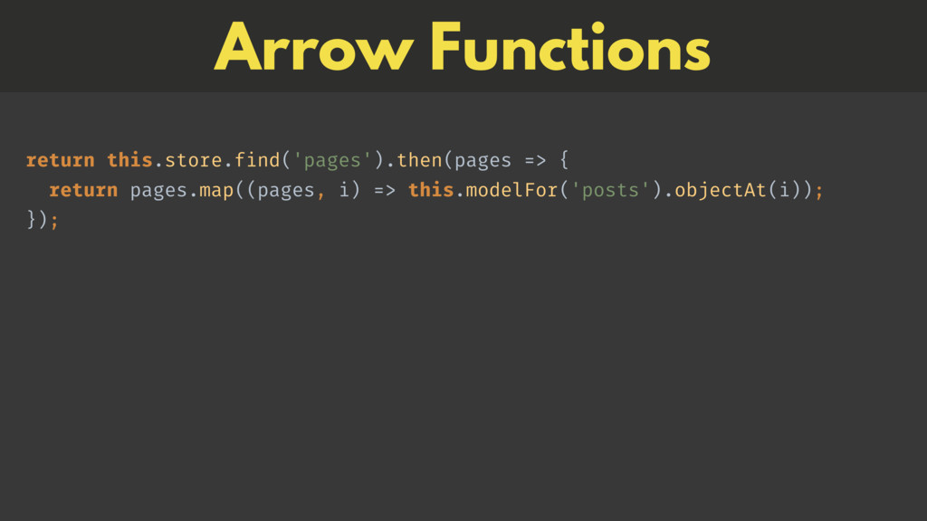 Arrow Functions 