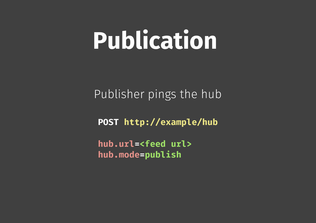 Publication Publisher pings the hub POST http:/...