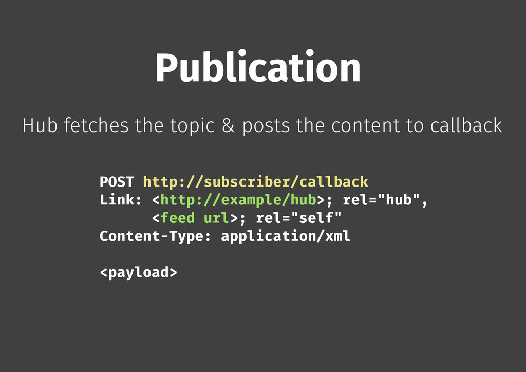 Publication Hub fetches the topic & posts the c...