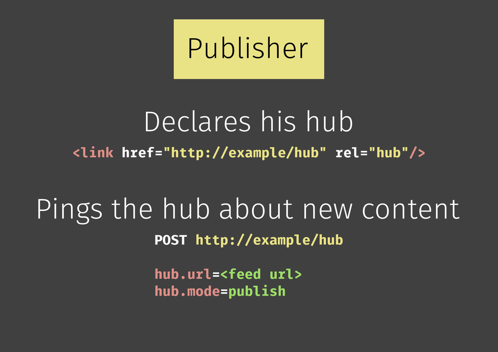 Publisher Declares his hub Pings the hub about ...