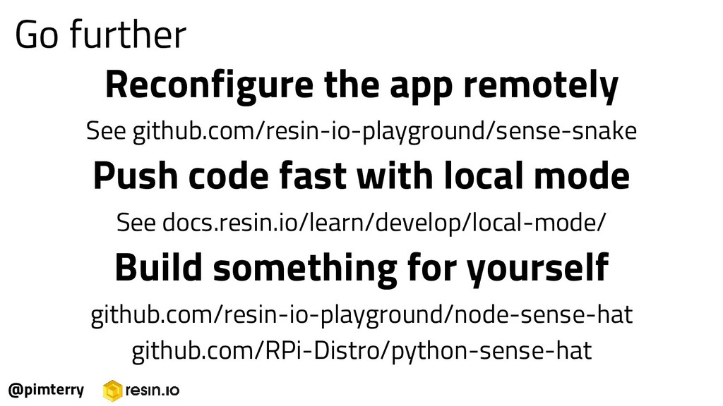 Reconfigure the app remotely See github.com/res...