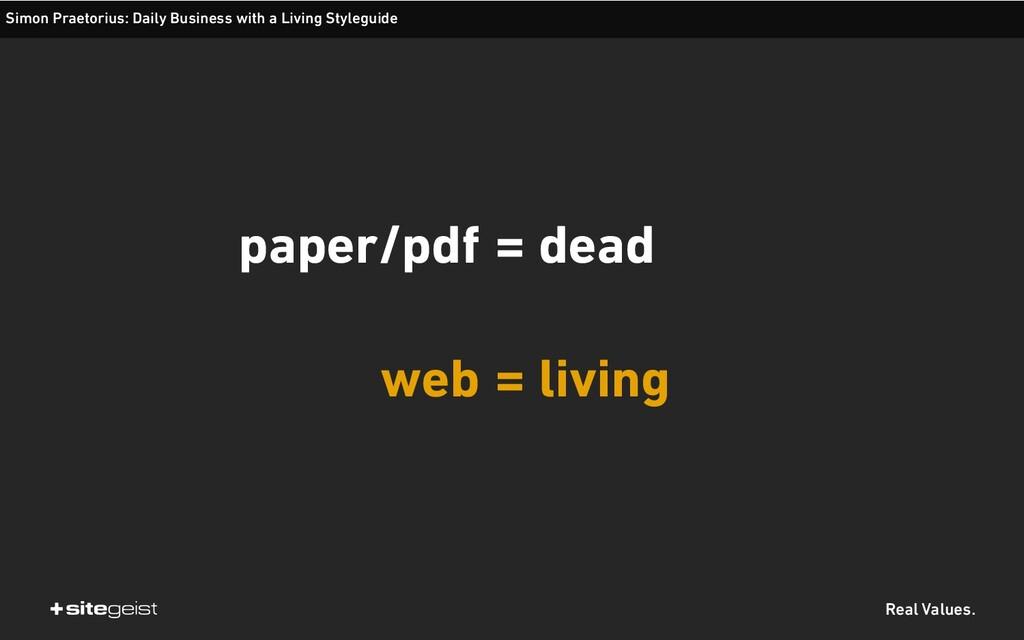 Real Values. paper/pdf web Simon Praetorius: Da...