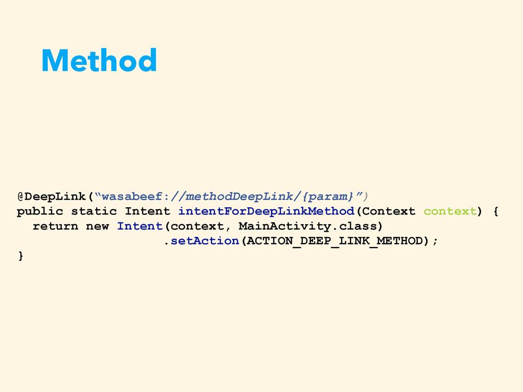 """Method @DeepLink(""""wasabeef://methodDeepLink/{pa..."""