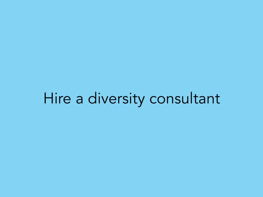 Hire a diversity consultant