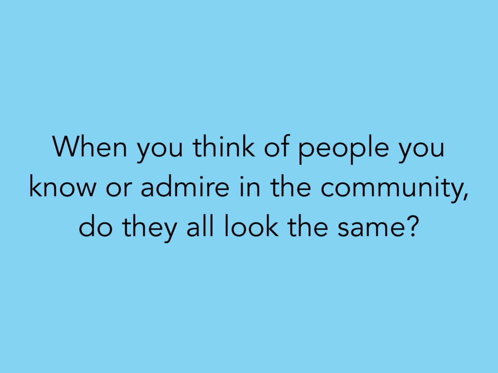When you think of people you know or admire in ...