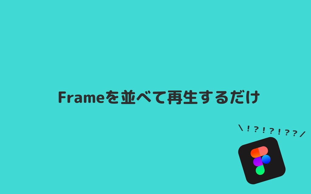 Frameを並べて再生するだけ \!?!?!??/