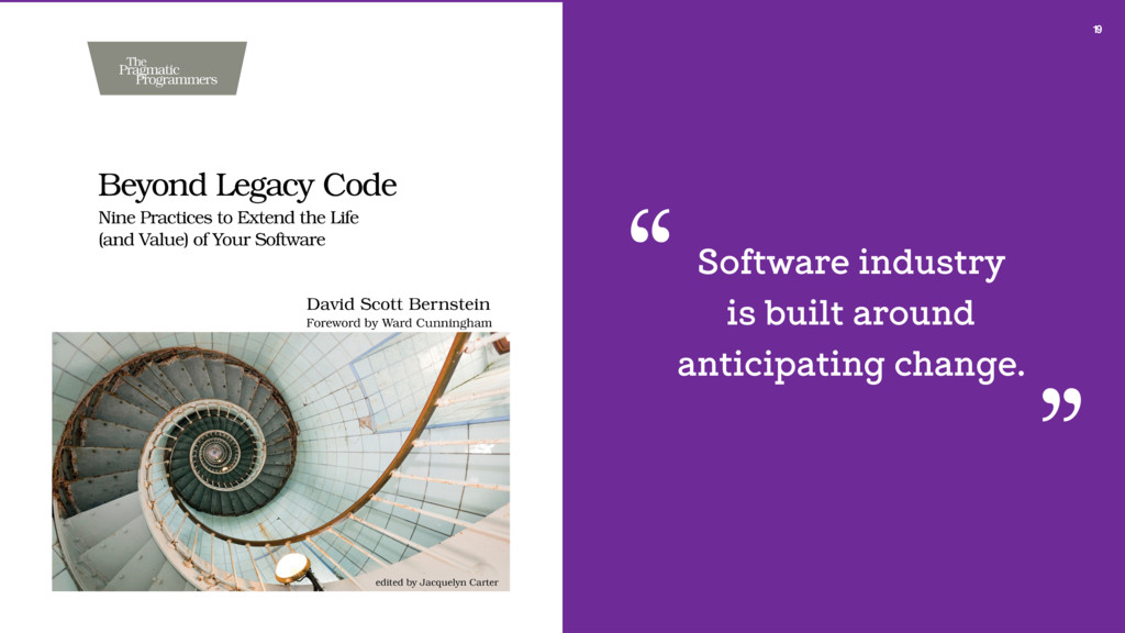 19 Software industry is built around anticipati...