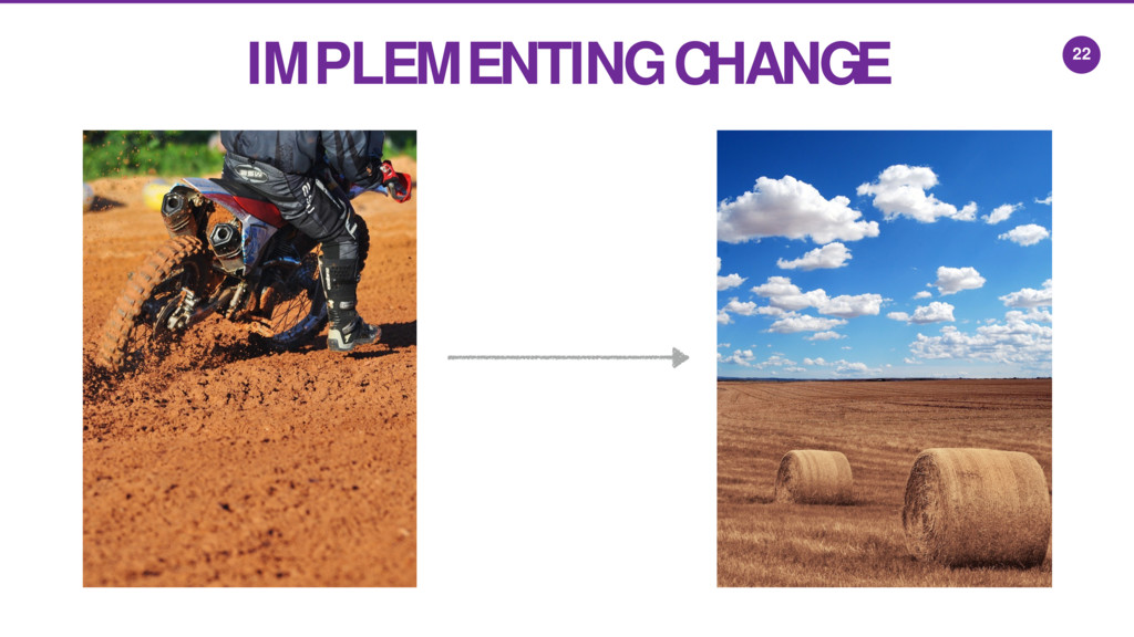 22 IMPLEMENTING CHANGE