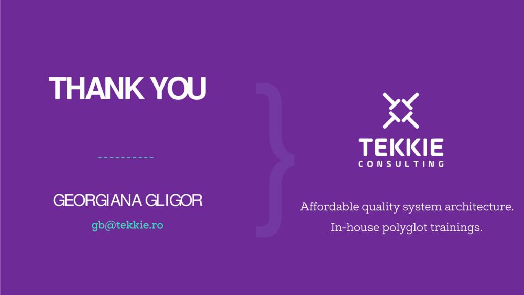 ‹#› THANK YOU GEORGIANA GLIGOR } Affordable qua...