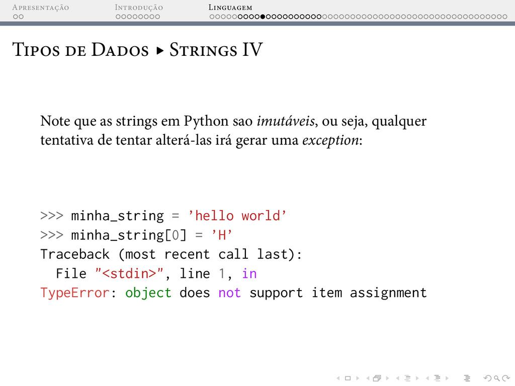 A I L T D ▸ S IV Note que as strings em Python ...