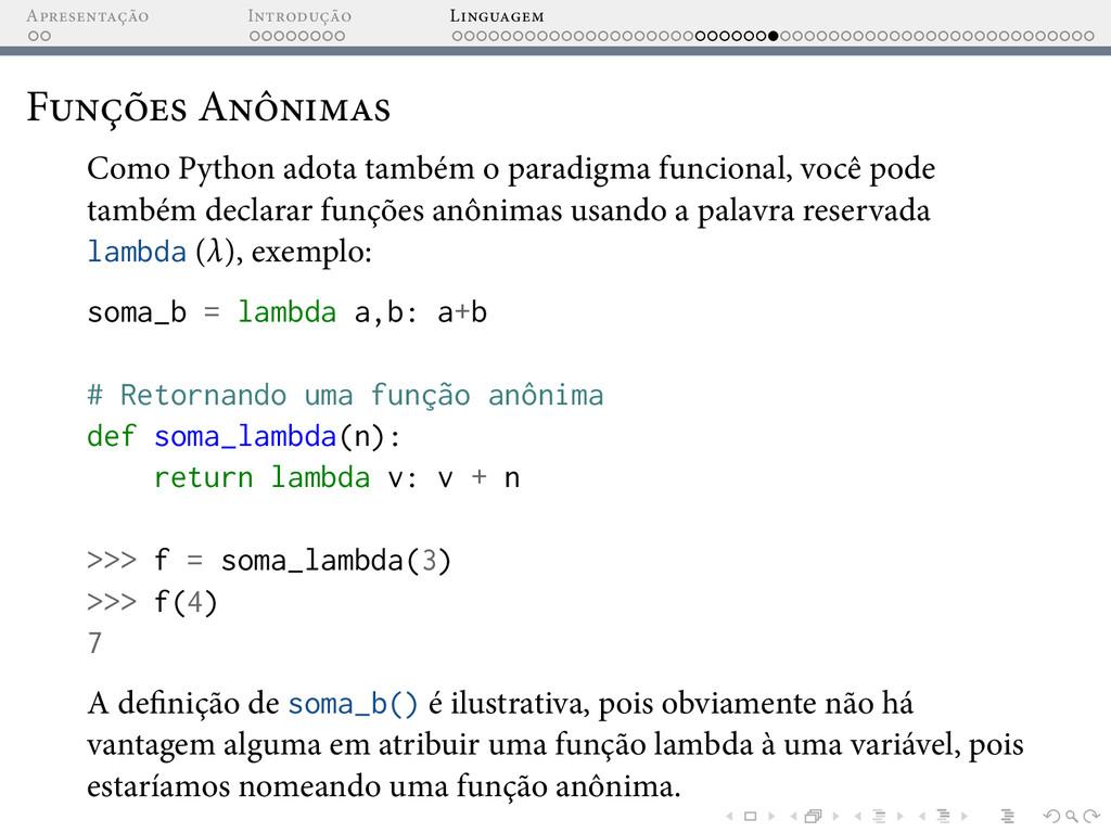 A I L F A Como Python adota também o paradigma ...
