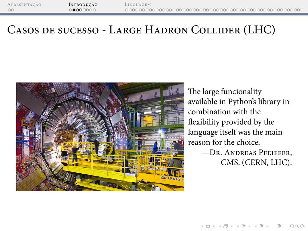 A I L C - L H C (LHC) e large funcionality avai...