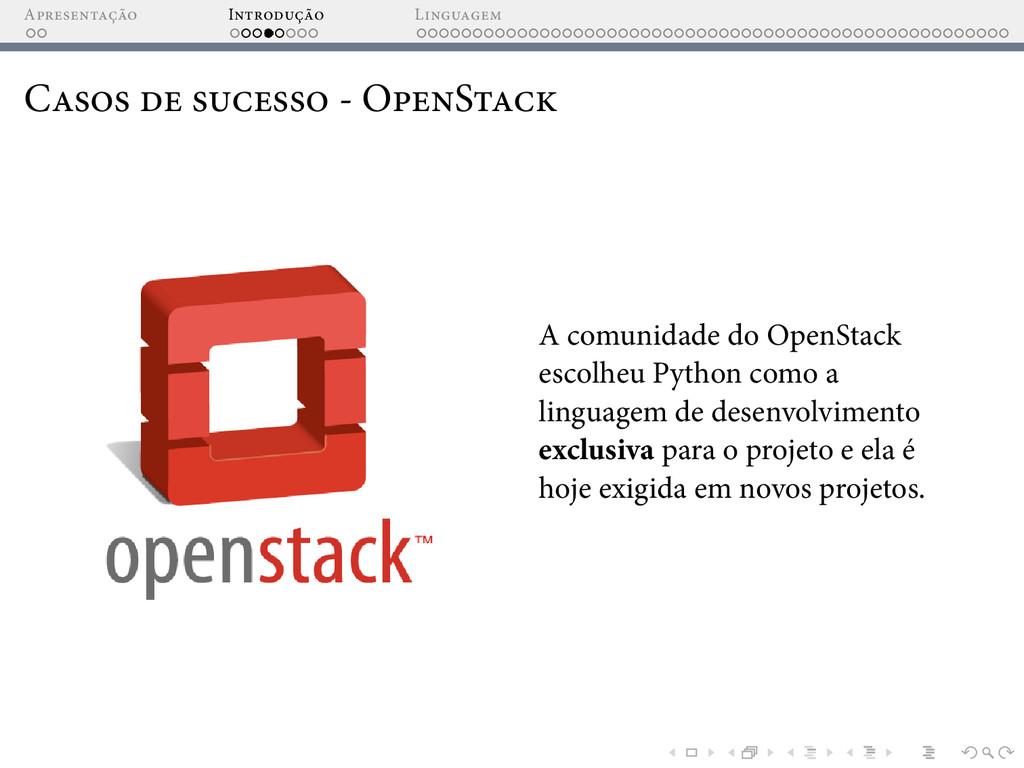A I L C - O S A comunidade do OpenStack escolhe...