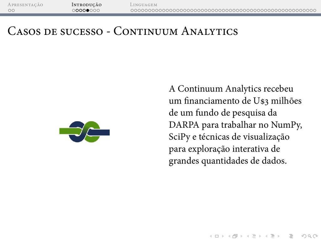 A I L C - C A A Continuum Analytics recebeu um ...