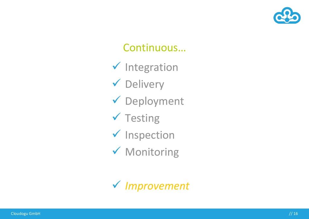 Cloudogu GmbH Continuous… ✓ Integration ✓ Deliv...