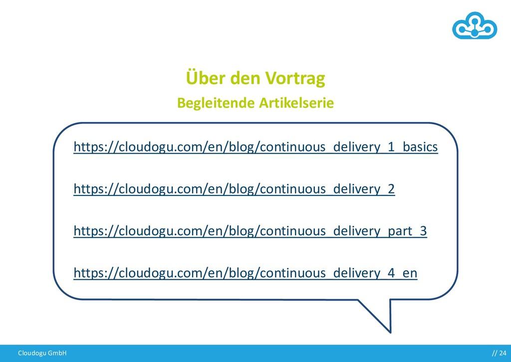 Cloudogu GmbH Über den Vortrag Begleitende Arti...