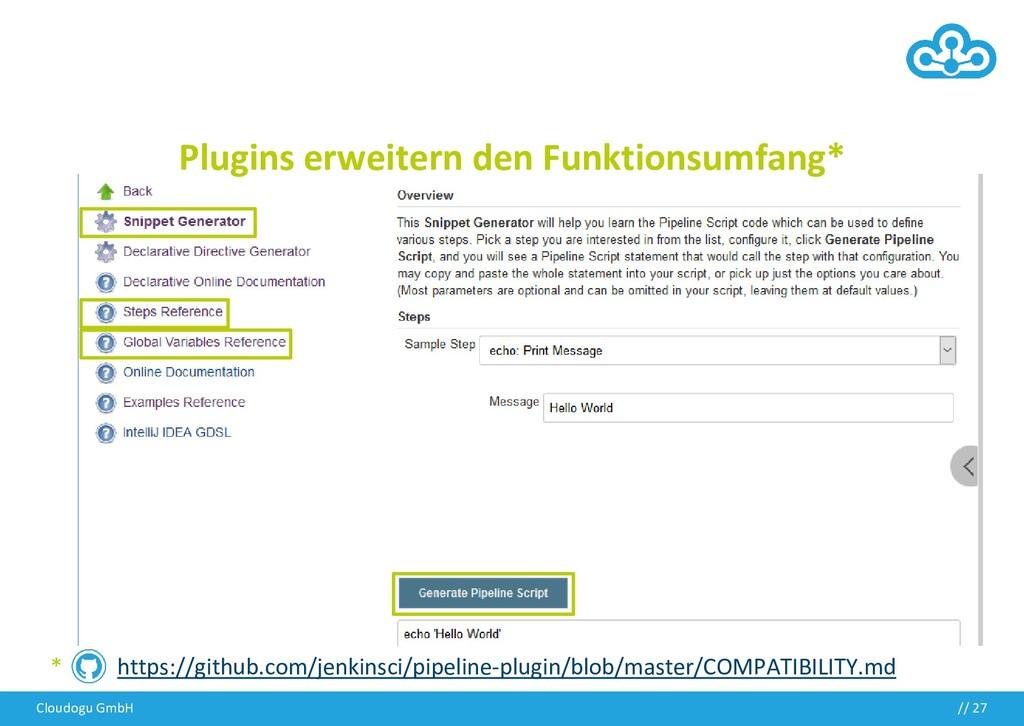 Cloudogu GmbH // 27 http://localhost:8080/job/m...