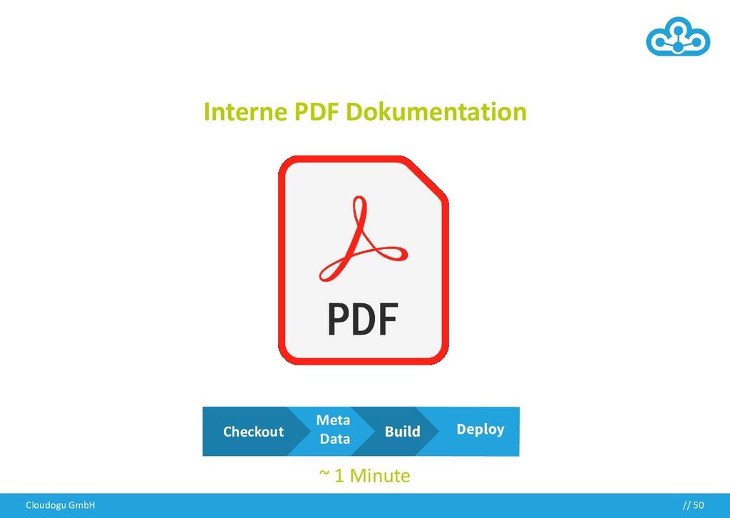 Interne PDF Dokumentation Cloudogu GmbH // 50 M...