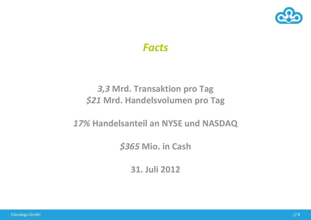 Cloudogu GmbH // 8 Facts 3,3 Mrd. Transaktion p...