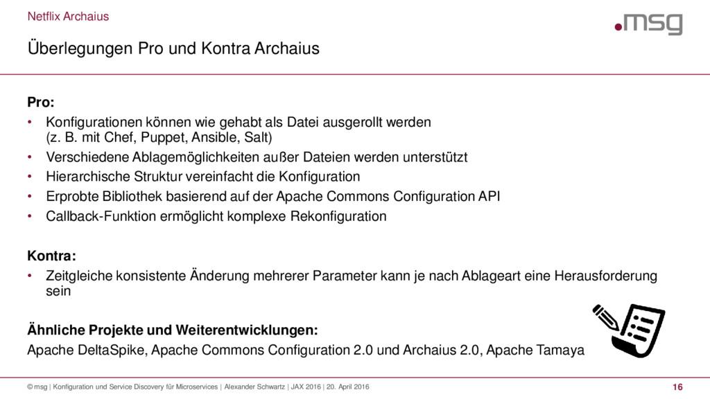 Netflix Archaius Überlegungen Pro und Kontra Ar...