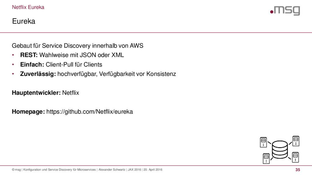 Netflix Eureka Eureka © msg | Konfiguration und...