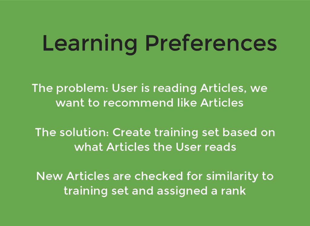 Learning Preferences Learning Preferences The p...