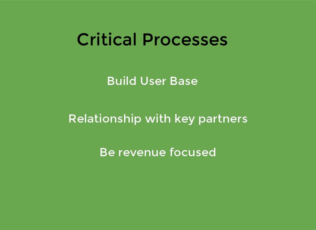 Critical Processes Critical Processes Build Use...