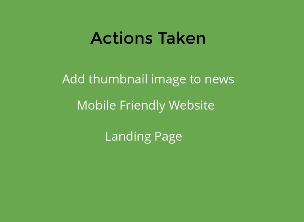 Actions Taken Actions Taken Add thumbnail image...