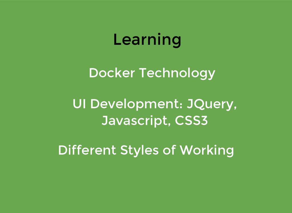 Learning Learning Docker Technology Docker Tech...