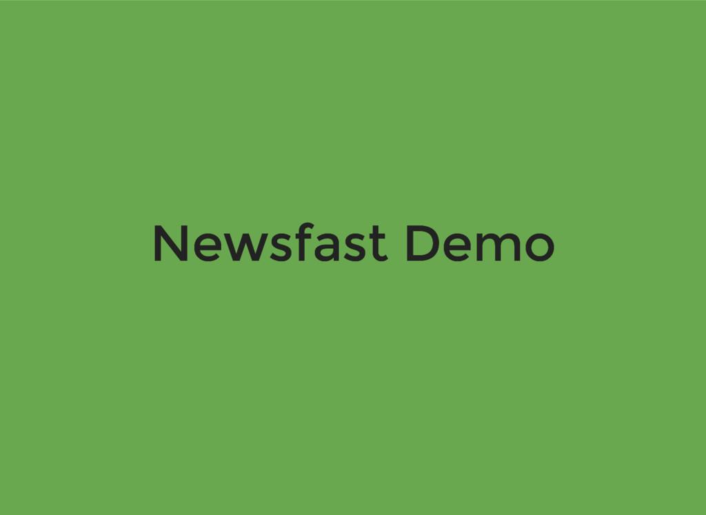 Newsfast Demo Newsfast Demo