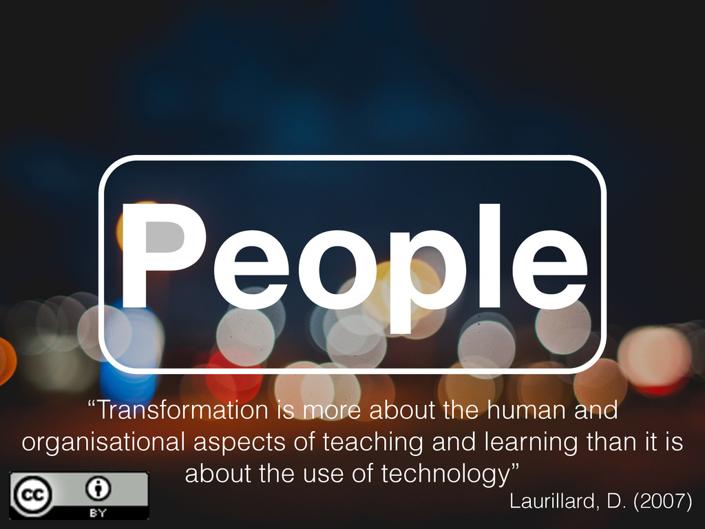 "People ""Transformation is more about the human ..."