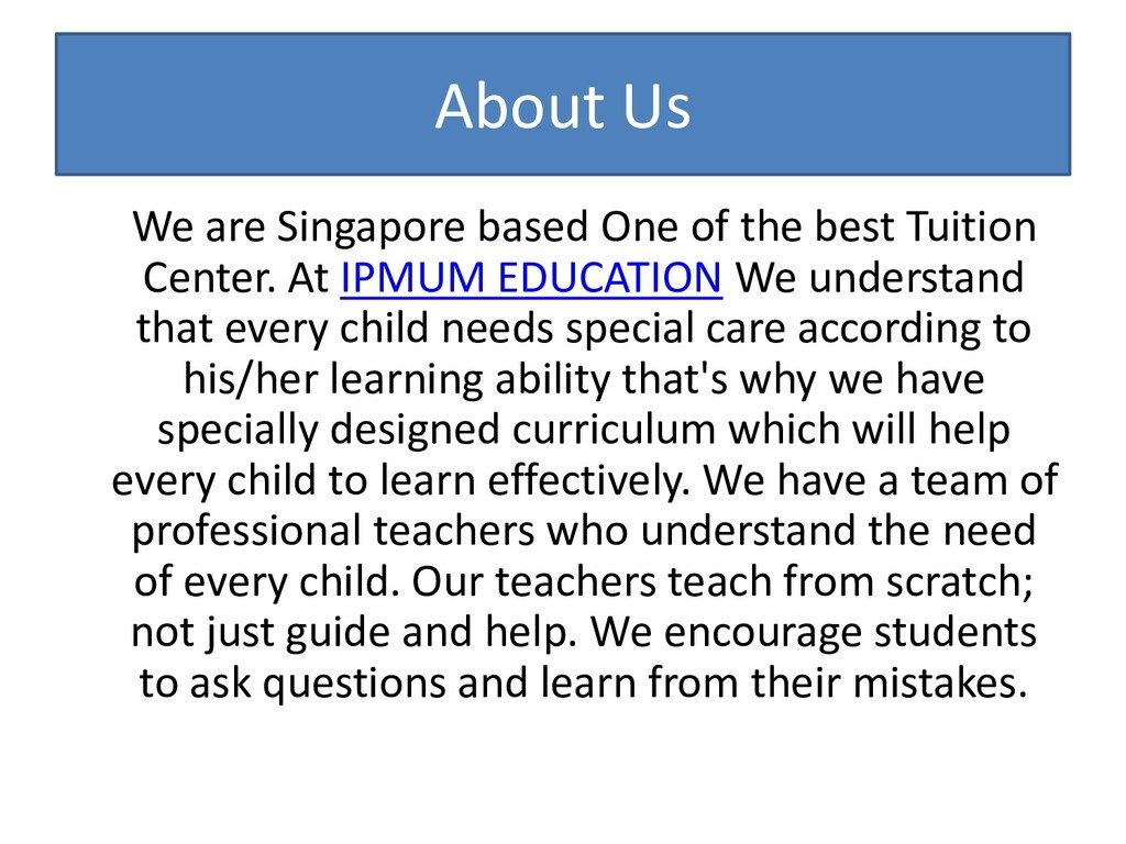 About Us We are Singapore based One of the best...