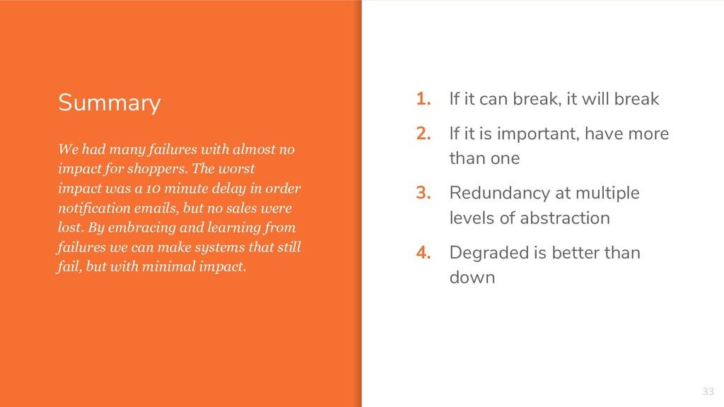 Summary 1. If it can break, it will break 2. If...