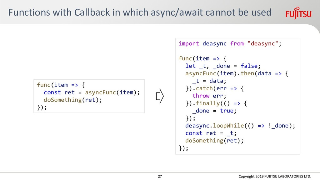 Functions with Callback in which async/await ca...