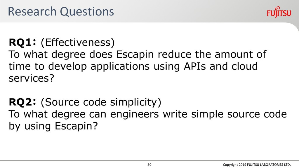 Research Questions RQ1: (Effectiveness) To what...