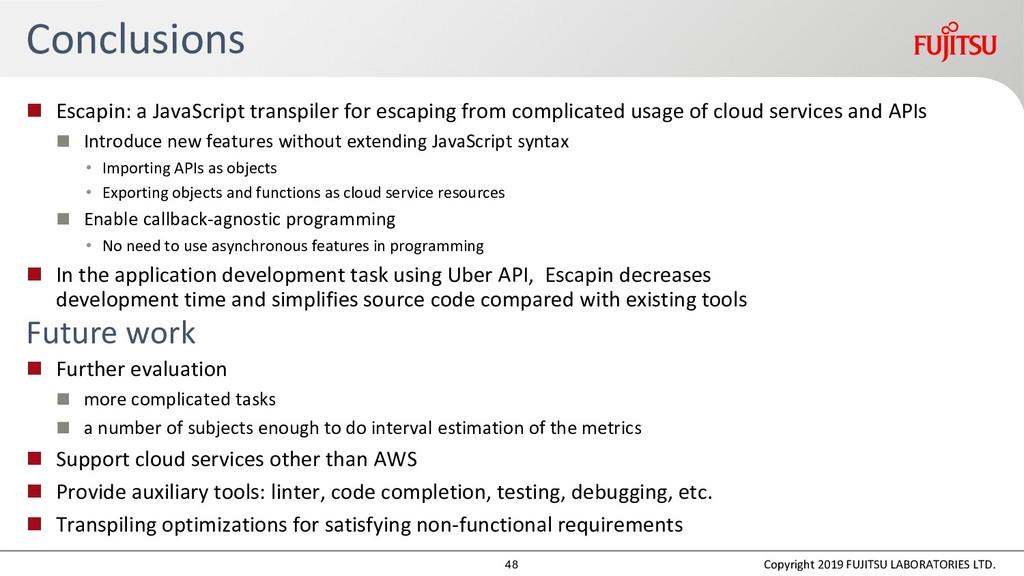 Conclusions  Escapin: a JavaScript transpiler ...