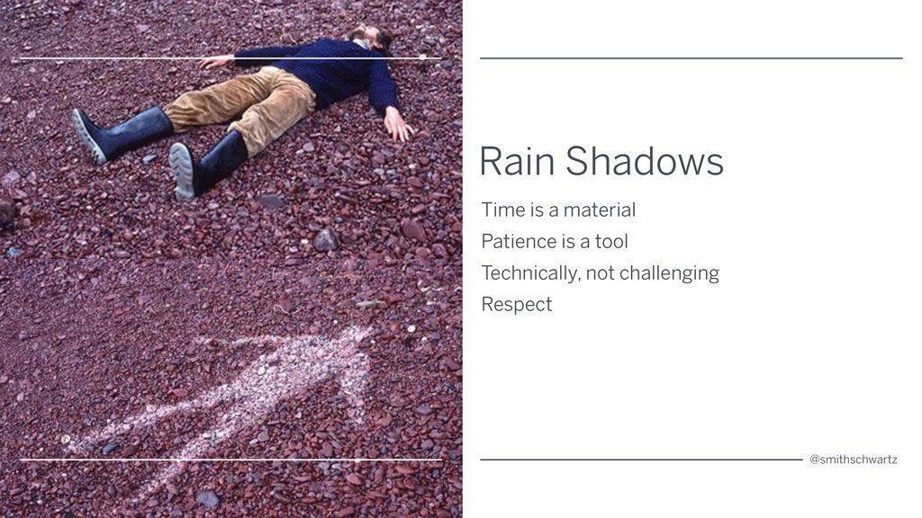 Rain Shadows Time is a material Patience is a t...