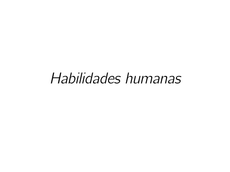 Habilidades humanas