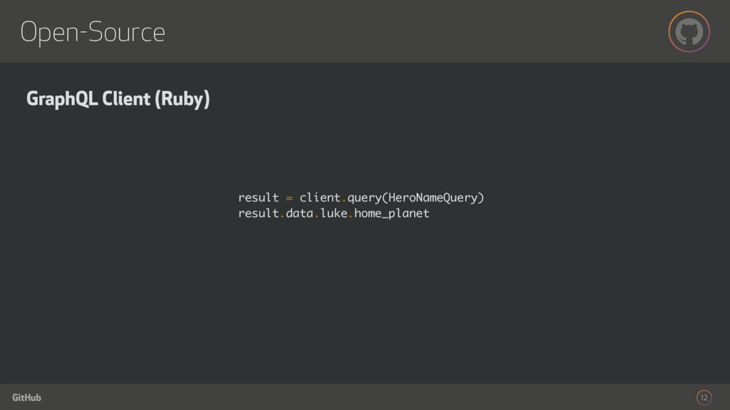 GitHub Open-Source 12 GraphQL Client (Ruby) res...
