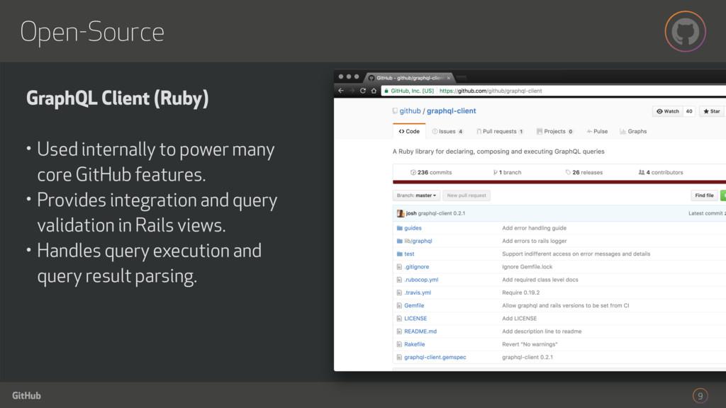 GitHub Open-Source 9 GraphQL Client (Ruby) • Us...