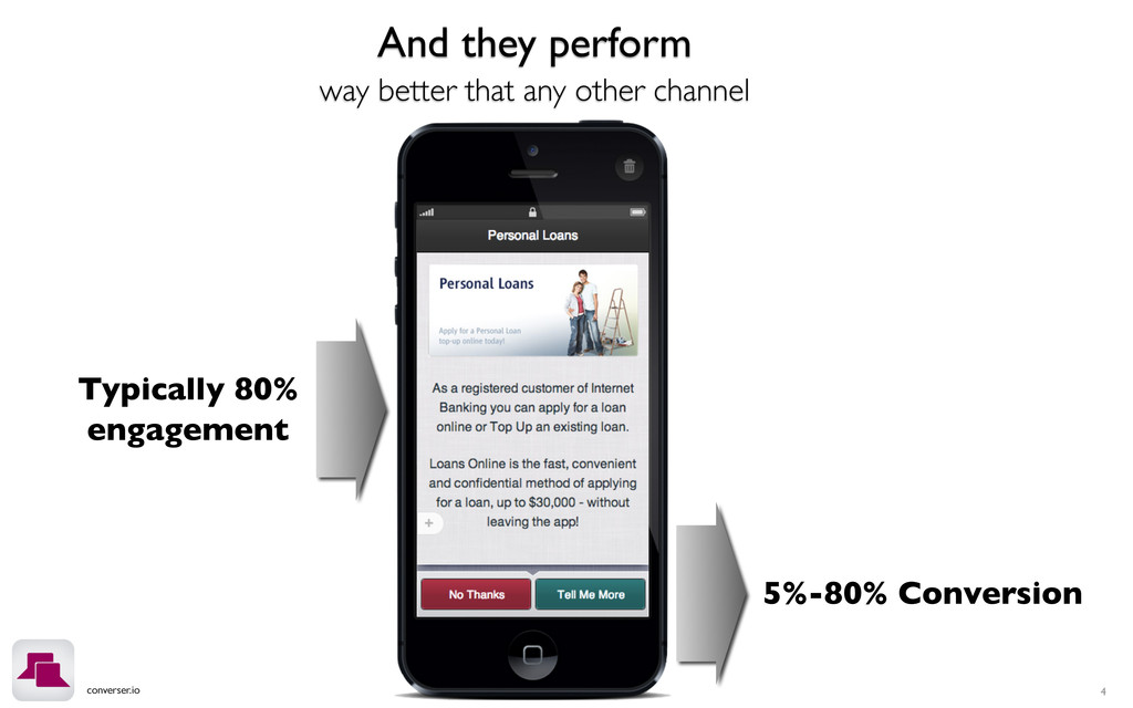 converser.io 4 And they perform way better that...