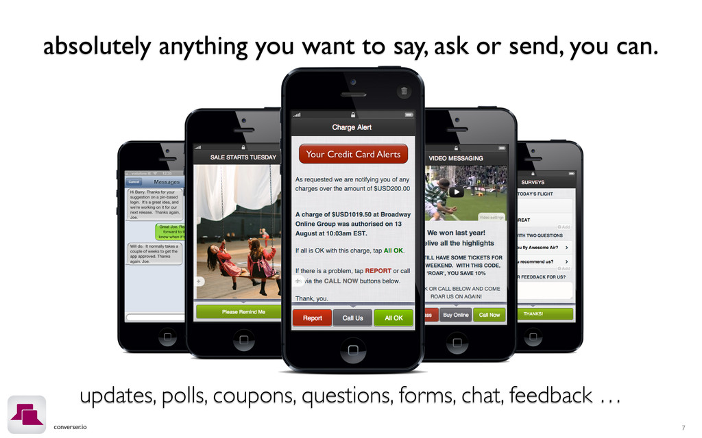 converser.io absolutely anything you want to sa...