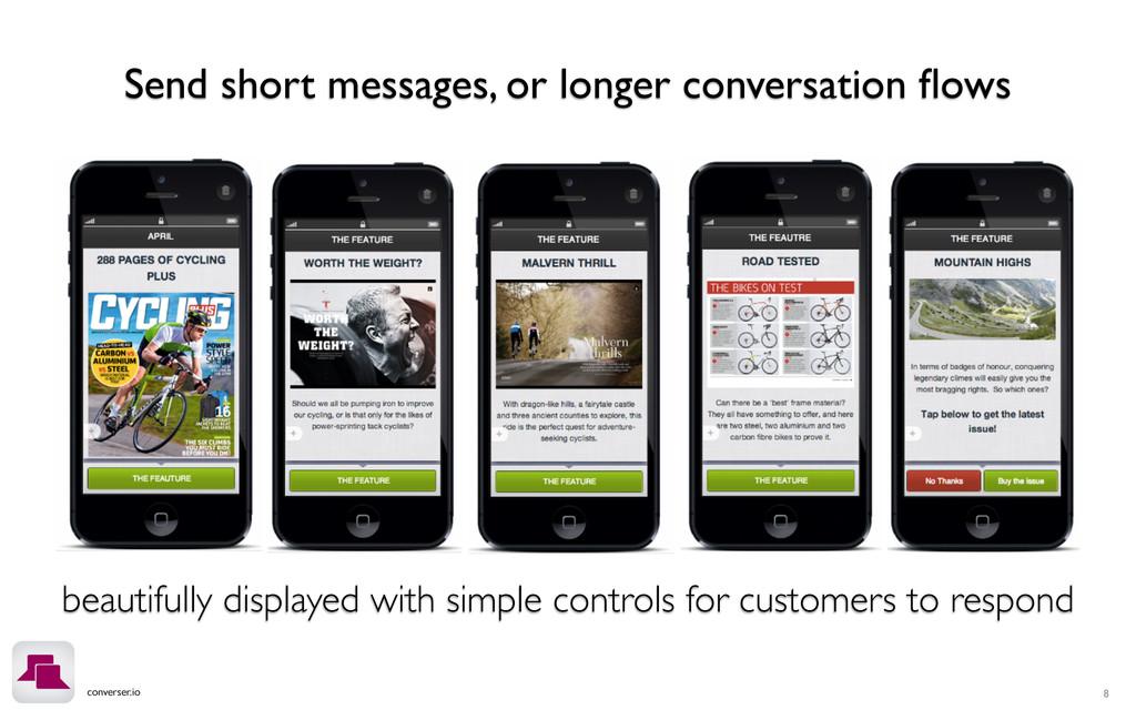 converser.io 8 Send short messages, or longer c...