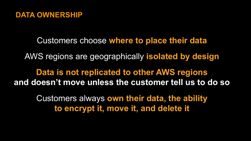 Customers choose where to place their data AWS ...