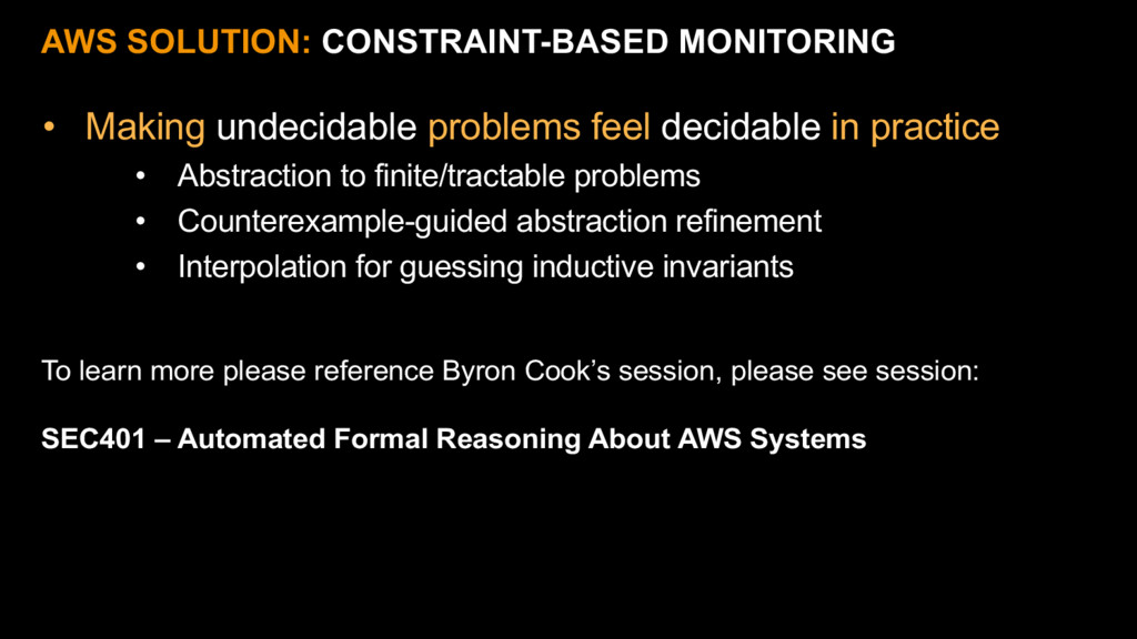 AWS SOLUTION: CONSTRAINT-BASED MONITORING • Mak...