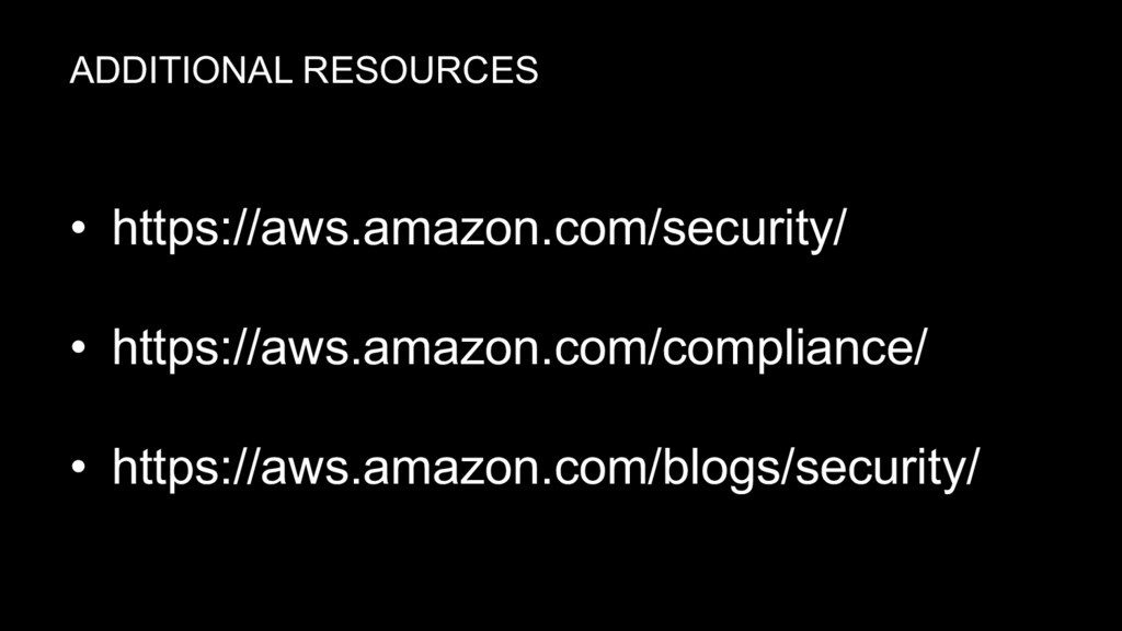 • https://aws.amazon.com/security/ • https://aw...
